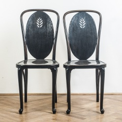 A pair of Thonet chairs
