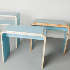 Painted bauhaus side tables
