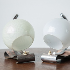 Pair of unrestored art-deco style lamps